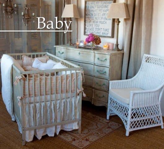 Ideias para decorar Quarto de Bebê Provençal unissex
