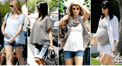 roupas para gestantes famosas