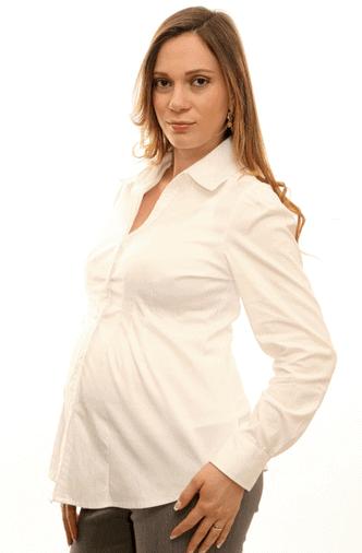 camisas sociais de grávida