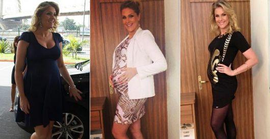 Imagens de famosas com vestidos de grávida