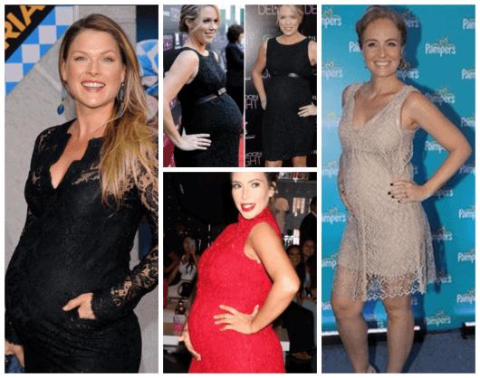 fotos de vestidos para gestantes das famosas