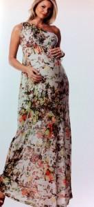 vestidos para gestantes longos