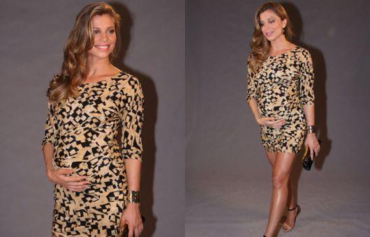 vestido de grávida justo