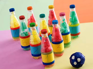 artesanato infantil com garrafa Pet