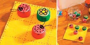 jogo com tampinha de PET