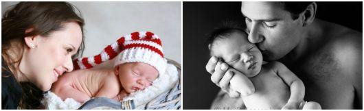 ensaio recém-nascido com mãe e pai