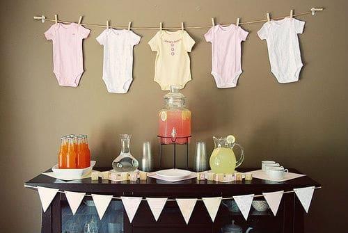 como decorar chá bar de bebê
