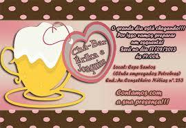 modelo de convite para festa chá bar de criança