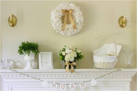 decoração de batizado de bebê