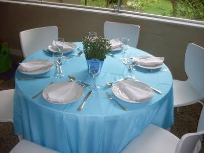 mesa de batizado simples e bonita
