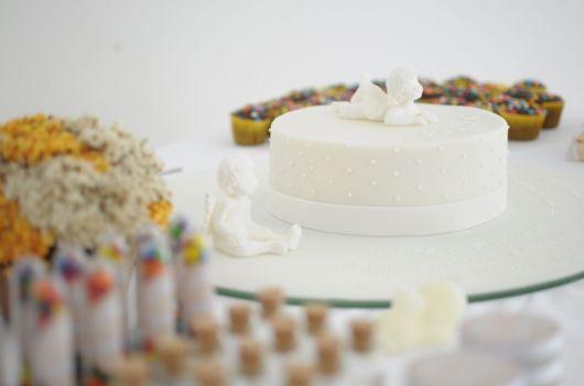 bolo batizado masculino e feminino anjos