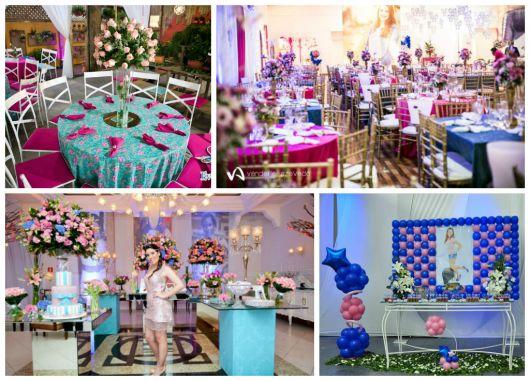 Imagens de salão de debutante decorado