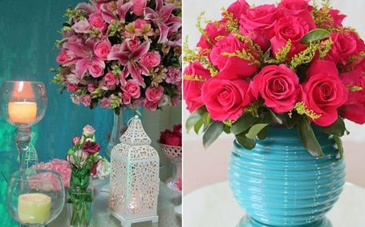Modelos de vasos de rosas