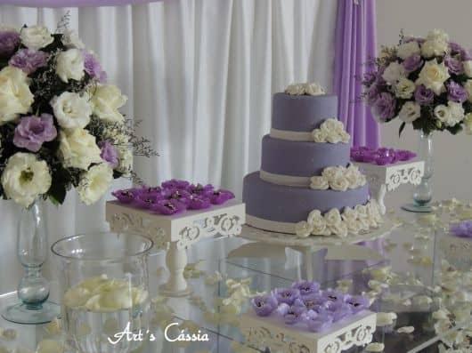 Mesa do bolo provençal