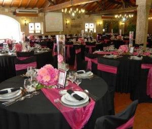 decoração de festa de 15 anos preto e rosa