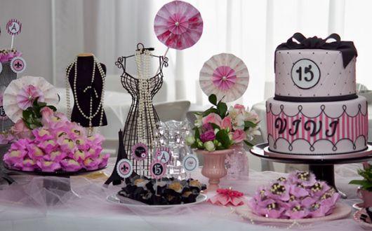 decoração de festa de quinze anos linda
