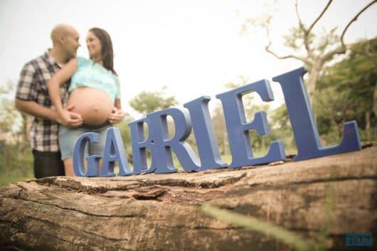 ensaio de grávida com pai externamente