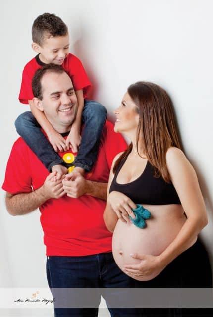 ensaio gestante casal e filho
