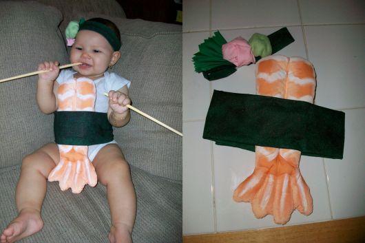 fantasia para bebê improvisada