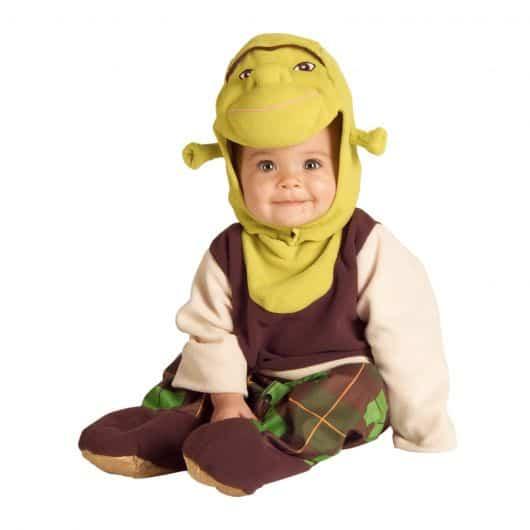Fantasia Shrek para bebês