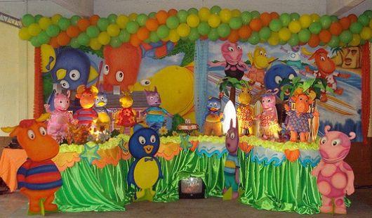 festa backyardigans decoração simples