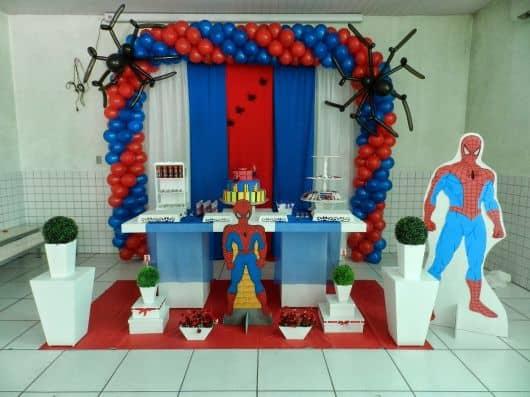 FESTA DO HOMEM ARANHA Decorações, Kits, Fotos! -> Decoração De Festa Simples Homem Aranha