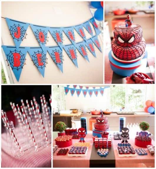 Festa do homem aranha simples