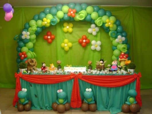 Festa jardim encantado infantil 40 ideias e fotos for Mural de fotos 1 ano