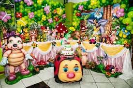 festa jardim encantado colorido