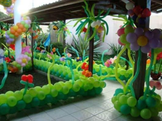 ornamentação festa infantil jardim encantado