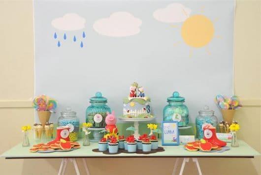 decoracao clean simples da Peppa Pig