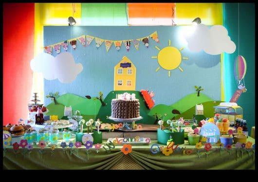 decoracao ideias de aniversário Peppa pig