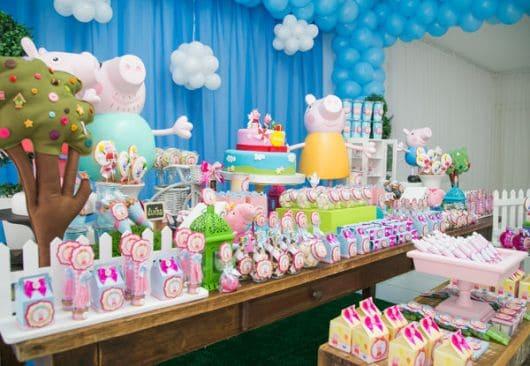 Imagens de festa infantil decorada da Peppa Pig