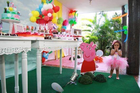 Decoração de aniversário temático Peppa Pig Provençal