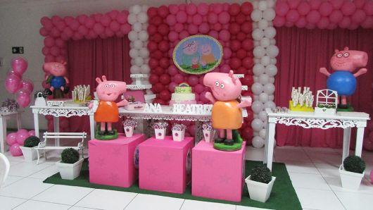 enfeites para aniversário feminino peppa pig
