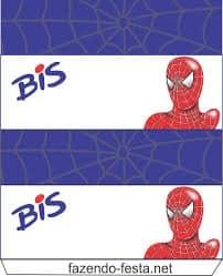 Moldes de kit festa Spider Man