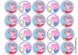 kit etiquetas Peppa pig grátis