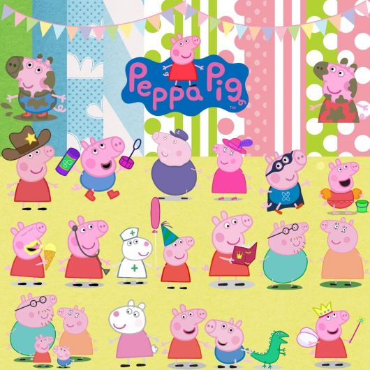 moldes de kit festa Peppa Pig - Personagens