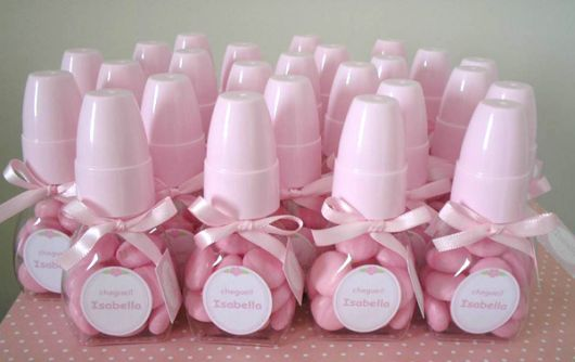 lembrancinha chá de fralda personalizada rosa