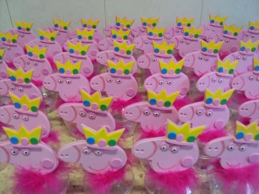 Lembrancinha de festa infantil Peppa Pig princesa