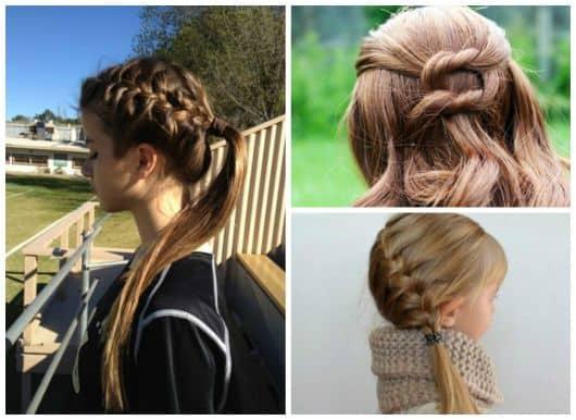 Penteados trançados diferentes para meninas