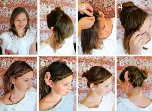 penteados para meninas passo a passo