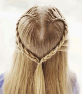 Penteado com formato de coração