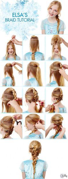 Como fazer penteado da Elsa - Frozen