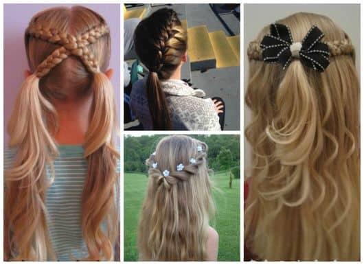 Fotos de penteados infantis femininos