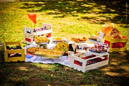 picnic de aniversário de 15 anos