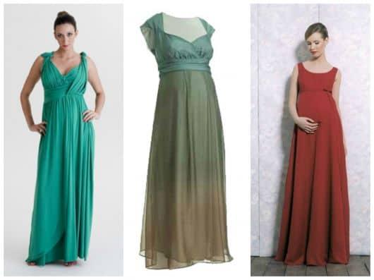 modelos de vestidos de festa para gestantes