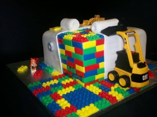 fotos de bolos Lego