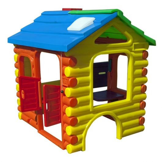 Casinha colorida de plástico