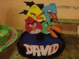 centro de mesa angry birds personalizado